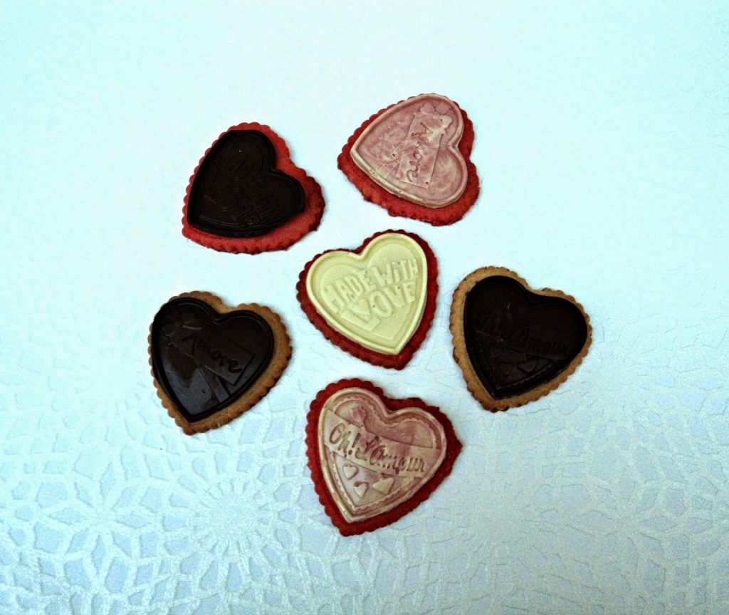 Galletas de Vainilla y Chocolate Enamoradas-corazon