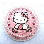 Tarta Hello Kitty de chocolate y almendras