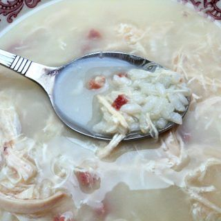 Sopa de arroz cuchara